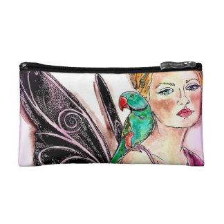 Cosmetic Bag - Small Fairy with Parrot