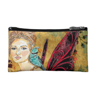 Cosmetic Bag - Small Parrot Fairy