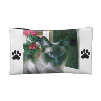 Cosmetic bag with cats