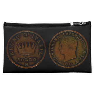 Cosmetic Bag with Napoleon Coin King of Italy 1813