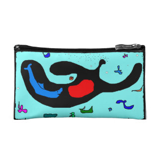 Cosmetic Bag with 'sealife' graphics
