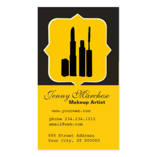 Cosmetic Beauty  Consultant Double-Sided Standard Business Cards (Pack Of 100)