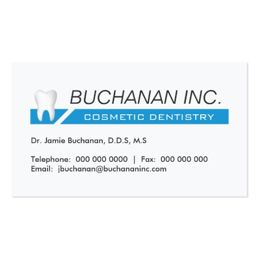 COSMETIC DENTISTRY BUSINESS CARD