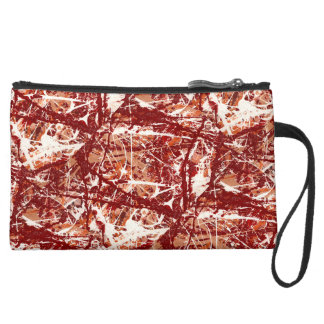 COSMETIC HAVEN ~ (abstract art design) ~ Suede Wristlet