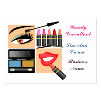 Cosmetic Sales Person Large Business Cards (Pack Of 100)