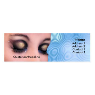 Cosmetic Store Health Beauty Skinny Business Card