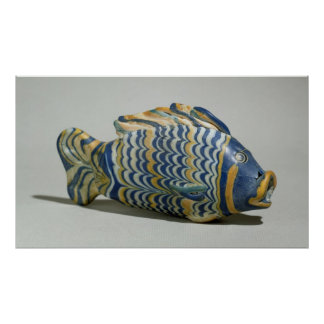 Cosmetic vessel in the form of a fish poster