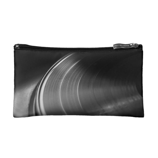 CosmeticBag: Vinyl Record and Turntable Cosmetic Bag