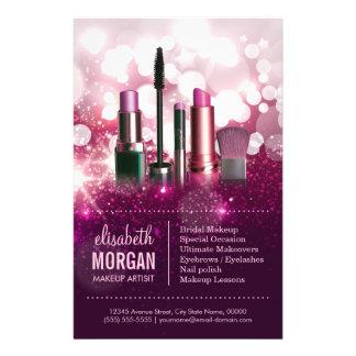 """Cosmetician del artista de maquillaje - brillo folleto 5.5"""" x 8.5"""""""