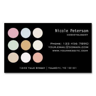 cosmetician magnetic fine pastel business card magnet