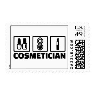 Cosméticos del Cosmetician Estampillas