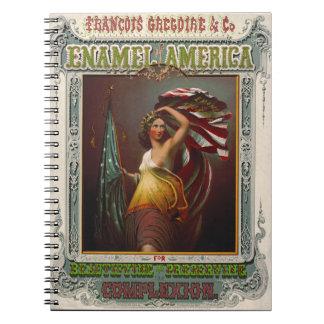 Cosmetics Ad 1866 Notebook