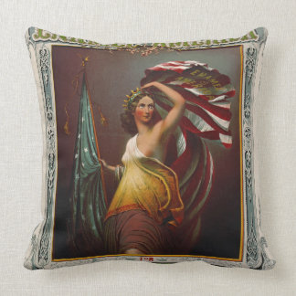 Cosmetics Ad 1866 Throw Pillow