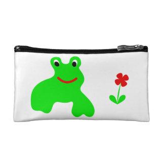 Cosmetics bag with frog cosmetic bag