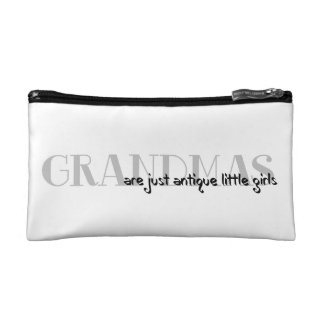 Cosmetics Bag with Grandma Sentiment