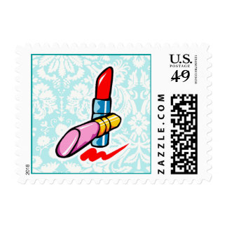 Cosmetics; Cute Postage Stamp