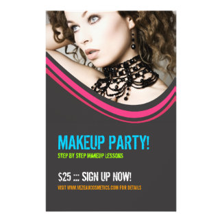 Cosmetics or Makeup Party Flyer