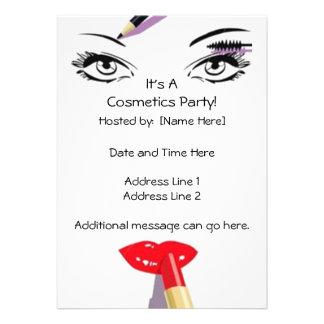 Cosmetics Party Invitations