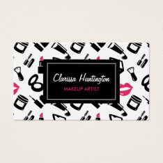 Cosmetics Pattern | Makeup Artist Business Card at Zazzle