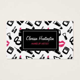 Cosmetics Pattern | Makeup Artist Business Card