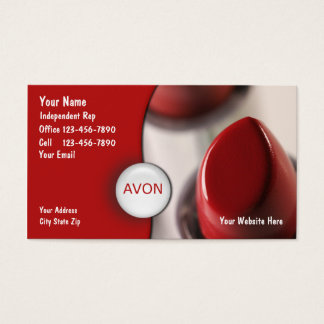 Cosmetics Rep Business Cards