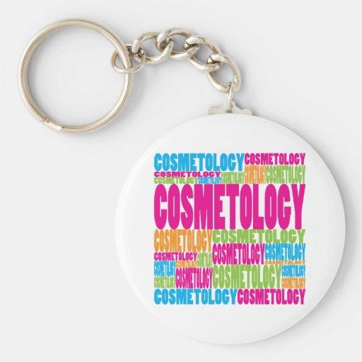 Cosmetología colorida llavero personalizado