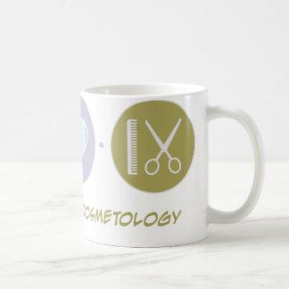 Cosmetología del amor de la fe tazas de café