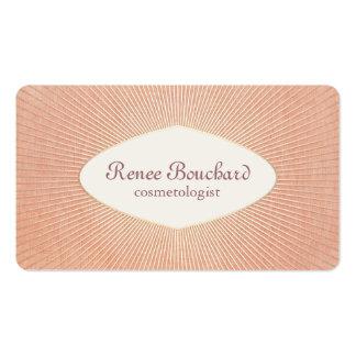 Cosmetología elegante del rosa de color salmón del tarjetas de visita