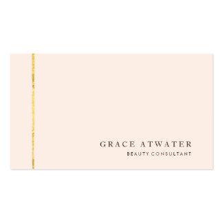 Cosmetología elegante simple, balneario, oro y tarjetas de visita