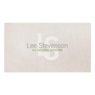 Cosmetología toda la mirada de lino simple de la tarjetas de visita