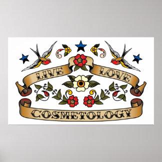 Cosmetología viva del amor poster