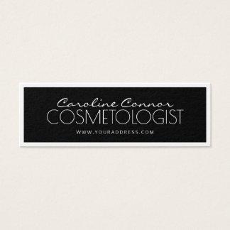 Cosmetologist Black & White Bordered Card