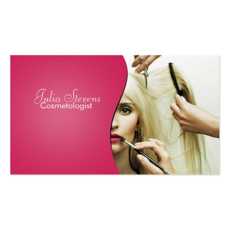 Cosmetologist At Work Beauty Salon Business Cards