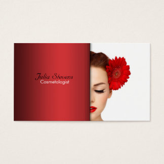 Cosmetologist business card