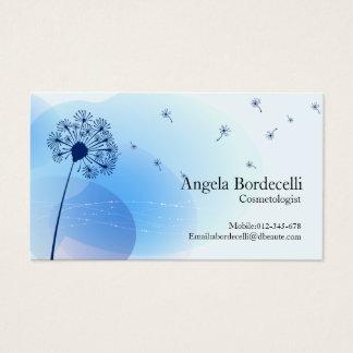 Cosmetologist Business Card Gentle Dandelion
