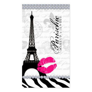 Cosmetologist Business Card Paris Eiffel Tower