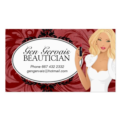 Cosmetologist Business Card Template (front side)