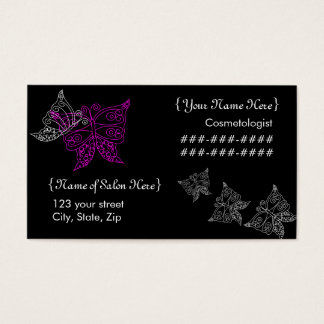 Cosmetologist Butterfly Business Card
