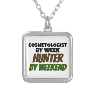 Cosmetologist by Week Hunter by Weekend Square Pendant Necklace