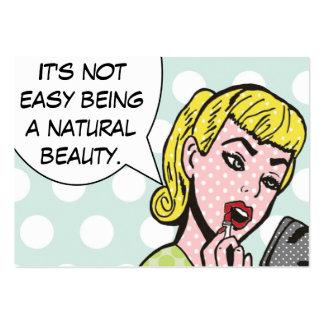 Cosmetologist de la belleza/tarjetas naturales de tarjetas de visita grandes