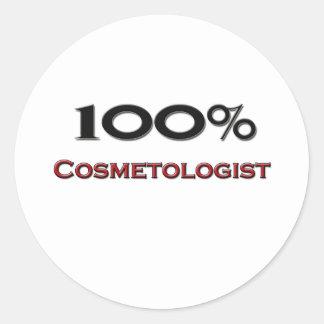 Cosmetologist del 100 por ciento pegatina redonda