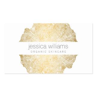 Cosmetologist elegante del anillo de árbol del oro tarjetas de visita