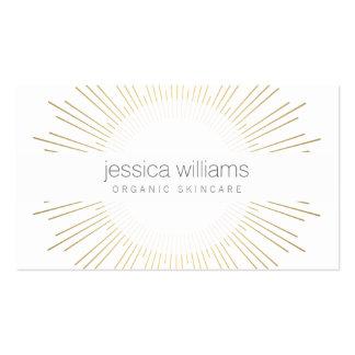 Cosmetologist elegante del resplandor solar del plantillas de tarjetas de visita