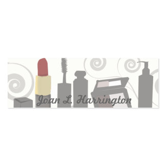 Cosmetologist femenino del remolino moderno del tarjetas de visita mini
