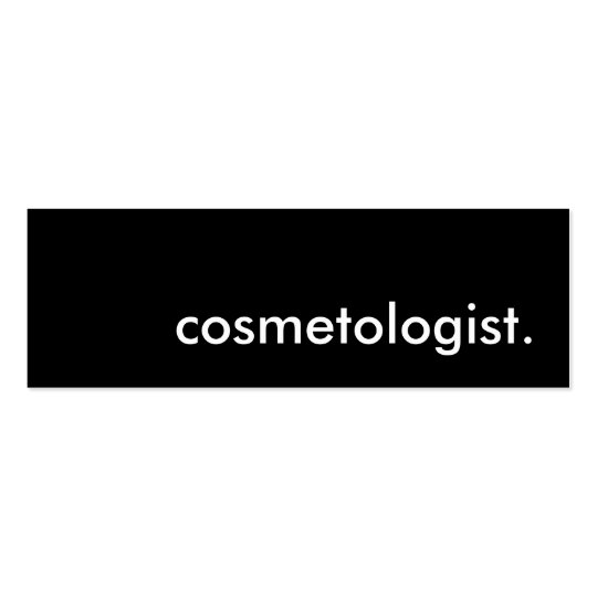 cosmetologist. mini business card