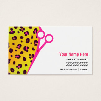 Pink leopard business cards best leopard 2017 leopard animal print business cards templates zazzle colourmoves Image collections