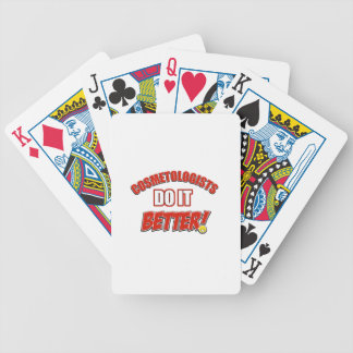 Cosmetologists job designs bicycle poker cards