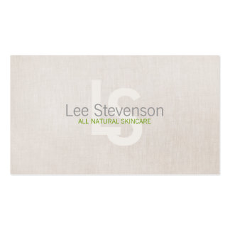 Cosmetology All Natural Beauty Simple Linen Look Double-Sided Standard Business Cards (Pack Of 100)
