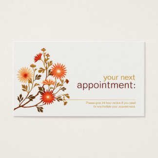 Cosmetology Beauty Floral Appointment Card