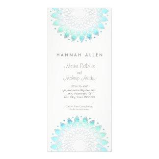 Cosmetology Elegant Aqua Spa and Salon Menu Rack Card Template